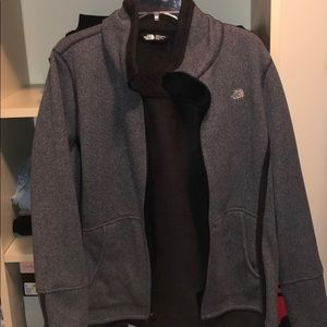 North Face Gray Furry Jacket SIZE XL